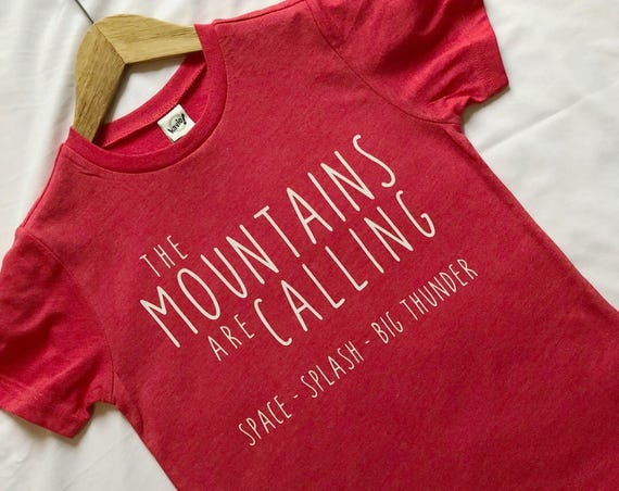 The Disney Mountains are Calling Kids Red Shirt / Kids Disney Shirt / Splash Mountain / Space Mountain / Big Thunder Mountain / Disney Gift