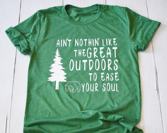 Great Outdoors Shirt / Disney Shirt / Country Bears / Nature / Hiking / Get Outside / Gift Under 30 / Men Shirt / Women Shirt/Mountains/Tree