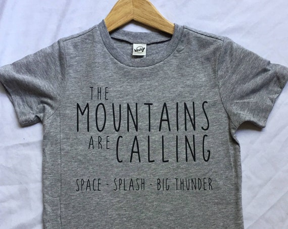 The Disney Mountains are Calling Kids Shirt / Disney Shirt / Splash Mountain / Space Mountain / Big Thunder Mountain /Disney Girl Disney Boy