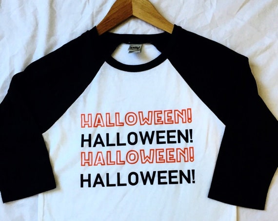 Halloween! 3/4 Sleeve Youth Raglan / Halloween Shirt / Nightmare Before Christmas / Mickey's Not So Scary Shirt / Boy or Girl Disney Shirt