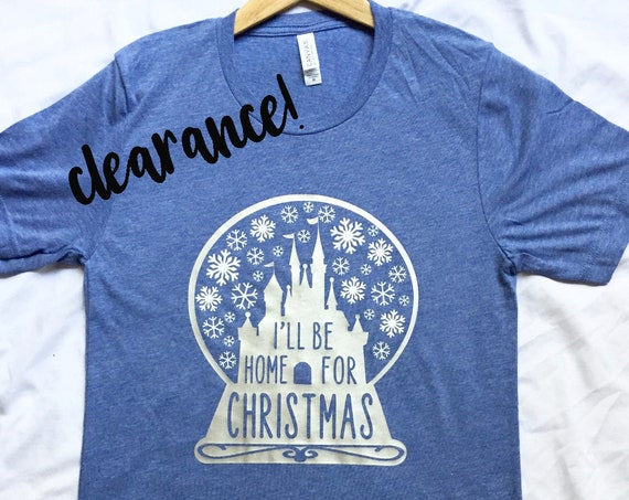 Clearance Sale - I'll Be Home For Christmas - Disney Castle - Disneyland - Disney World - Very Merry Christmas Party - Holidays - DVC