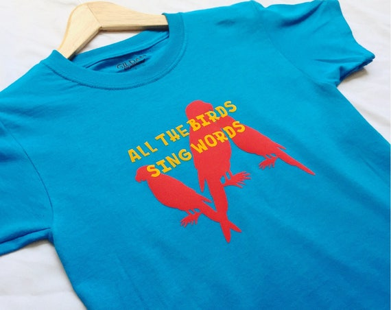 All The Birds Sing Words Shirt / Tiki Tiki Room / Kids Disney Shirt / Disney Shirt / Tiki Room Shirt / Disneyland / Disney World/Disney Gift