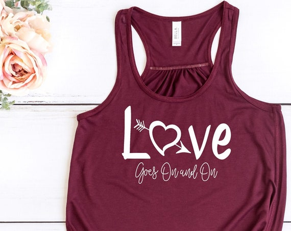 Love Goes On and On / Robin Hood / Disney Song Lyrics / Ladies Tank / Women Shirt / Romantic / Flowy / Disney Style /Teen Girl/Gift Under 30