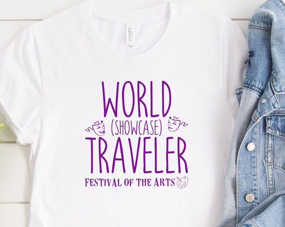 World Showcase Traveler Festival of the Arts Shirt - Disney - Epcot - Vacation - Matching - Disney World - Broadway - FARTS - Passholder