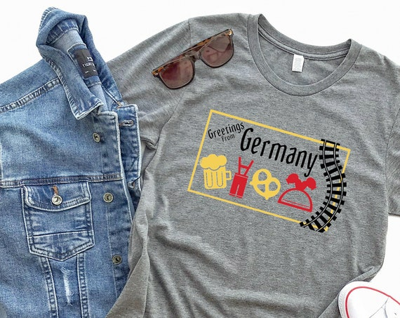 Greetings From Germany - Epcot World Showcase / Disney Shirt / Epcot / Travel / Europe / Postcard / Disney Vacation / Disney World / Pretzel