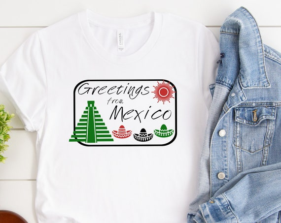 Greetings From Mexico - Epcot World Showcase / Disney Shirt / Epcot / Disney Vacation / Disneyworld / Spring Break / Postcard /Food and Wine