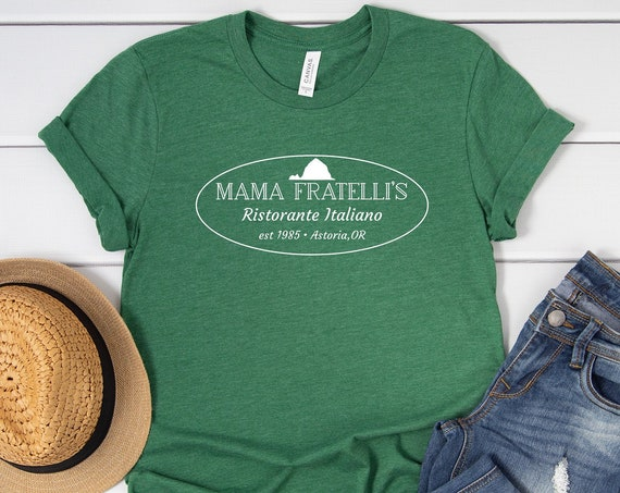 Mama Fratelli's Italian Restaurant Shirt / The Goonies / Movie / Gift / Astoria Oregon / One Eyed Willy / Pirate / 1980's / Chunk / Sloth