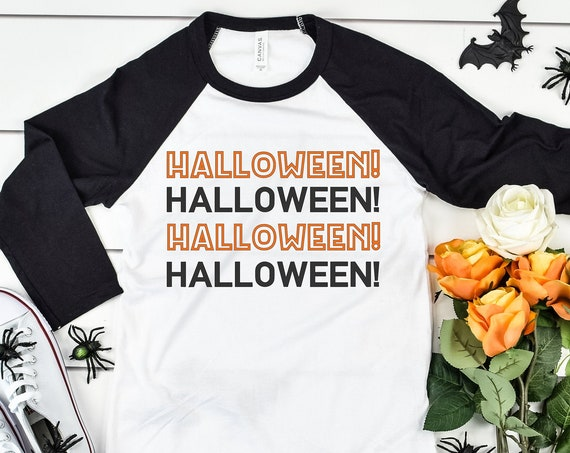 Halloween! 3/4 Sleeve Raglan / Halloween Shirt / Nightmare Before Christmas / Mickey's Not So Scary Party/Men Women Disney Shirt/Trick Treat
