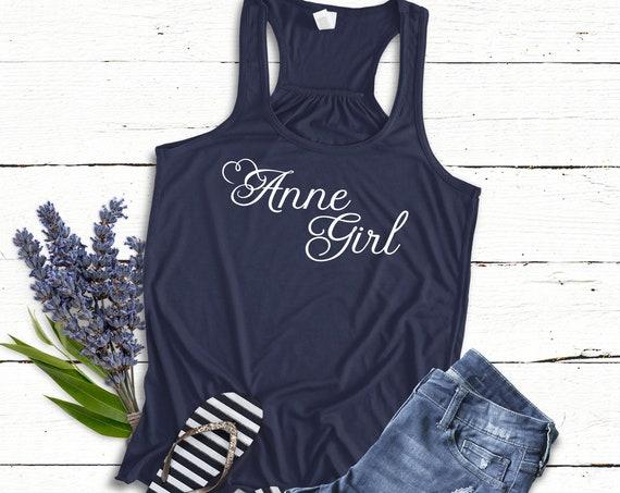 Anne Girl / Ladies Tank / Muscle Tee / Anne of Green Gables / Literature / Feminine / Red Head / Tween Girl / Teen / Book Quote / Carrots