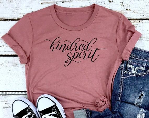 Kindred Spirit / Unisex Crew Neck Tee / Anne of Green Gables / Literature / Best Friend / Red Head / Tween Girl / Teen / Book Quote /Carrots