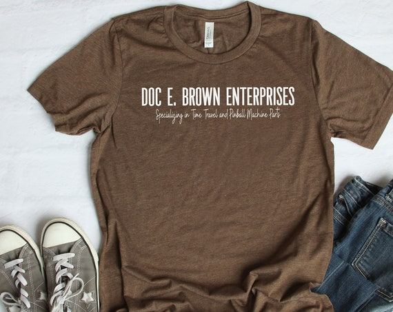 Doc E Brown Enterprises / Back to the Future / Emmett Brown / Marty McFly / 1980s Movie / Retro / Throwback / Time Travel / Hill Valley