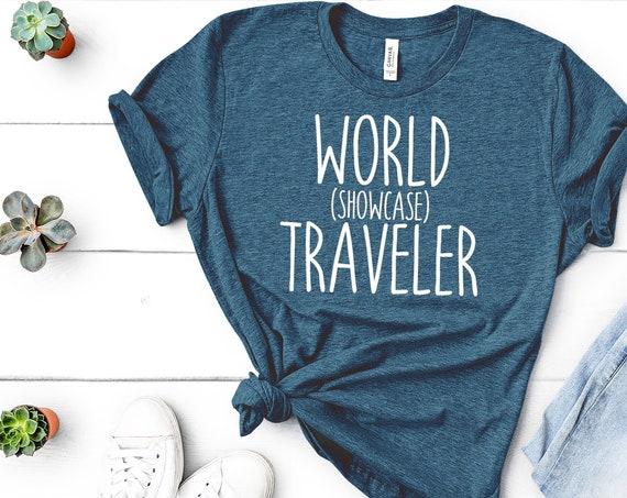World Showcase Traveler Crew Neck Shirt - Disney - Epcot - Food and Wine - Flower and Garden - Vacation - Matching Shirt - Disney World