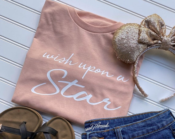 Wish Upon A Star - Wishes - Happily Ever After - Disney Quote - Classic - Wishing Star - Fireworks - Disney Vacation - Gift Under 30 -
