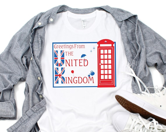 Greetings From The United Kingdom-Epcot World Showcase/Disney Shirt/England/Europe/Travel/Postcard/Disney Vacation/Disney World/World Travel
