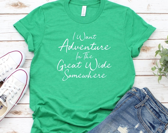 I Want Adventure - Belle - Beauty and the Beast - Disney Vacation - Musical - Song Lyric - Travel - Gift - Great Wide Somewhere