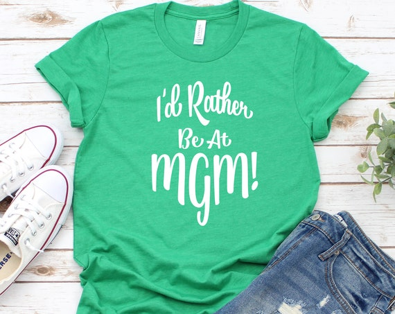 I'd Rather Be At MGM Crew Neck Shirt /Hollywood Studios / Disney World / Family Vacation / Disney Blues / Cruise / Disney Gift/I love Disney