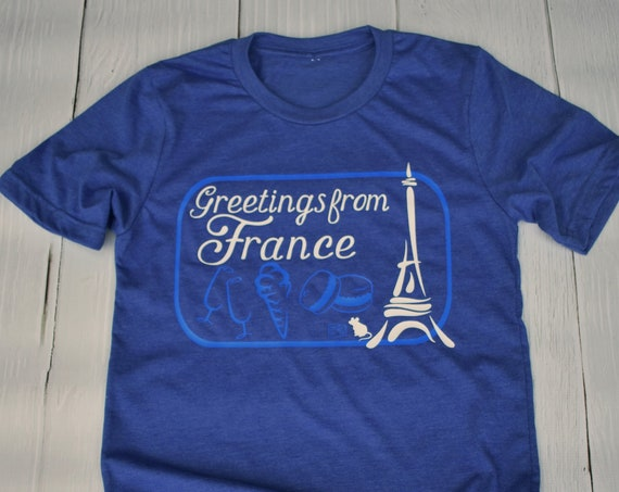 Greetings From France - Epcot World Showcase / Disney Shirt /Epcot/Europe/Travel/ Postcard / Disney Vacation / Disney World / World Traveler