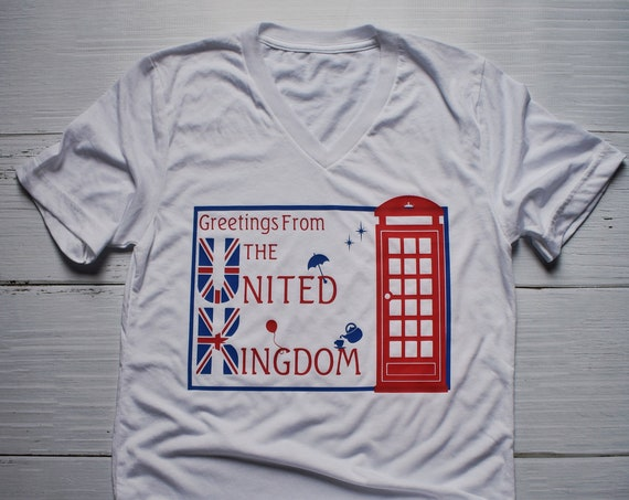 Greetings From The United Kingdom-Epcot World Showcase/Disney Shirt/England/Europe/Travel/Postcard/Disney Vacation/Disney World/World Travel