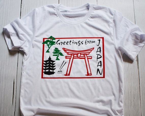 Greetings From Japan - Epcot World Showcase / Disney Shirt / Epcot / Travel / Asia / Postcard / Disney Vacation /Disney World/World Traveler