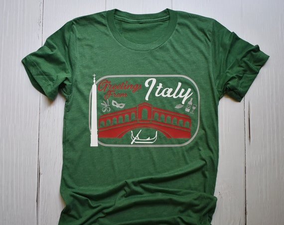 Greetings From Italy - Epcot World Showcase / Disney Shirt / Epcot / Travel / Europe / Postcard / Disney Vacation / Disney World / Venice