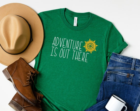 Adventure Is Out There Crew Neck Shirt / Disney Shirt / Up / Pixar / Carl Ellie / Wilderness Explorer / Animal Kingdom / Outdoor / Nature
