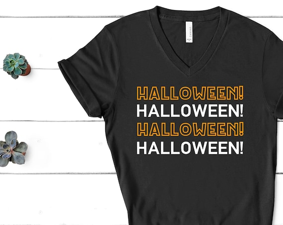 Halloween! V-Neck Shirt / Nightmare Before Christmas / Disney Halloween / Mickey's Not So Scary Party / Jack Skellington / Oogie Boogie