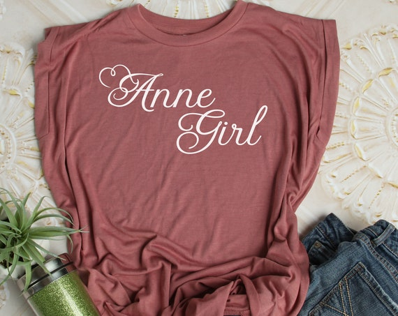 Anne Girl / Ladies Flowy Muscle Tee / Anne of Green Gables / Literature / Feminine / Red Head / Tween Girl / Teen / Book Quote / Carrots