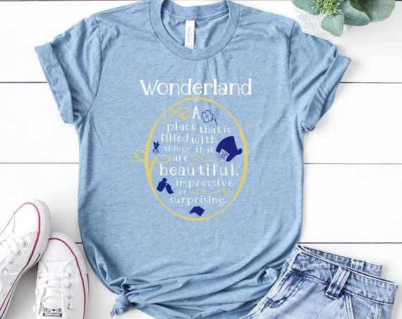 Wonderland Defined / Alice in Wonderland / Women's Tee / Tank Top / Mad Hatter / Teacup / Queen of Hearts / Cheshire Cat / Looking Glass