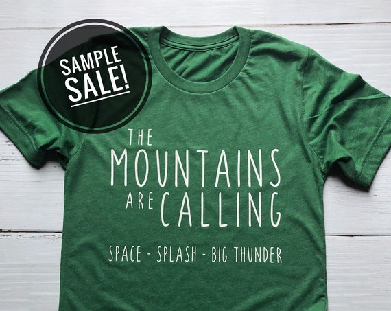 Sample Sale - Mountains Are Calling - Disney - Splash Mountain - Space Mountain - Big Thunder Mountain - Vacation - Disneyland - World