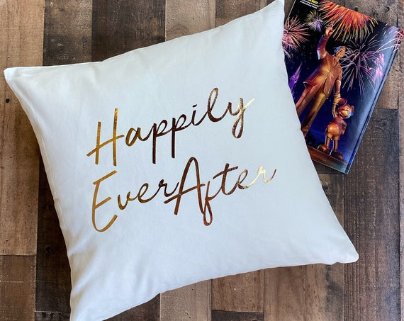 Happily Ever After Throw Pillow Cover / Pillowcase / Sham / Gift / Disneyland / Disney World /Fireworks / Home Decor / Living Room / Bedroom