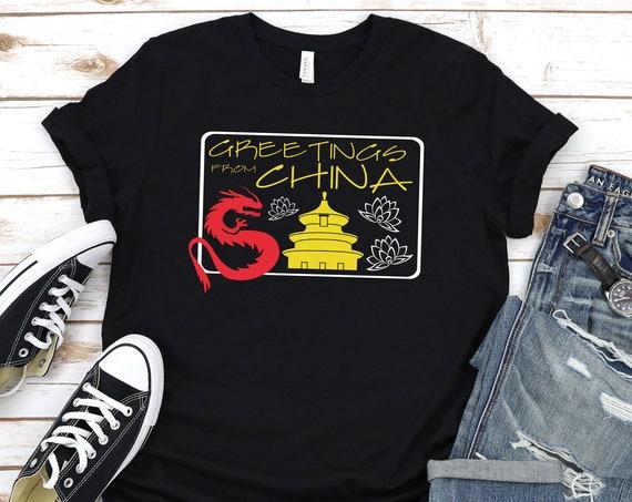 Greetings From China - Epcot World Showcase / Disney Shirt / Epcot / Travel / Asia / Dragon/Disney Vacation/ Disney World / Postcard / Lotus