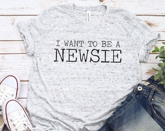I Want To Be A Newsie / Newsies / Broadway / Disney Musical / King of New York / Seize the Day / Fansie / Adult Shirt / Gift Under 30