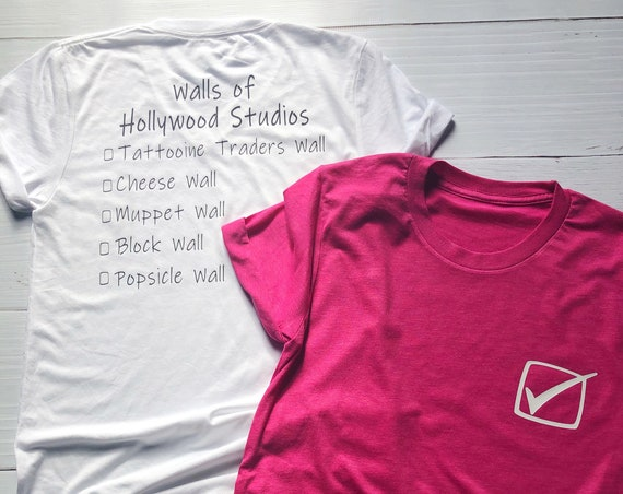 Walls of Hollywood Studios Shirt / Disney Vacation / Matching Shirt / Walls of Disney / Women Shirt / Men Shirt / Disney Gift / Disney World
