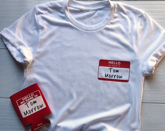 Hello My Name is Tom Morrow Shirt / People Mover / Tomorrowland / Disney World / Disneyland / Vacation / Funny Disney / Gift Under 30
