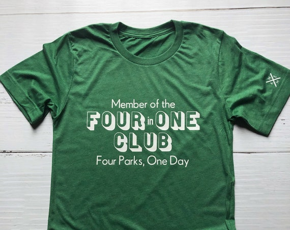 Member of the 4 in 1 Club Shirt / Disney World Shirt / Disney Gift / Park Hop / Four Parks One Day / Challenge / Disney Vacation / Matching