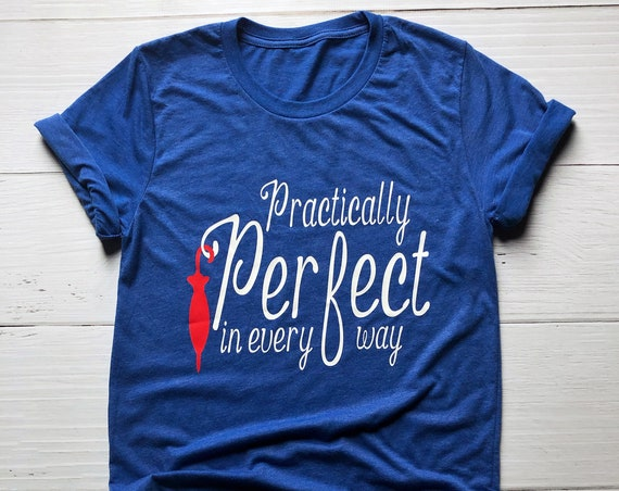Practically Perfect In Every Way Shirt / Mary Poppins / Disney Shirt / Disney Shirt for Women / Disney Gift Under 30 / Disney Couple Shirt