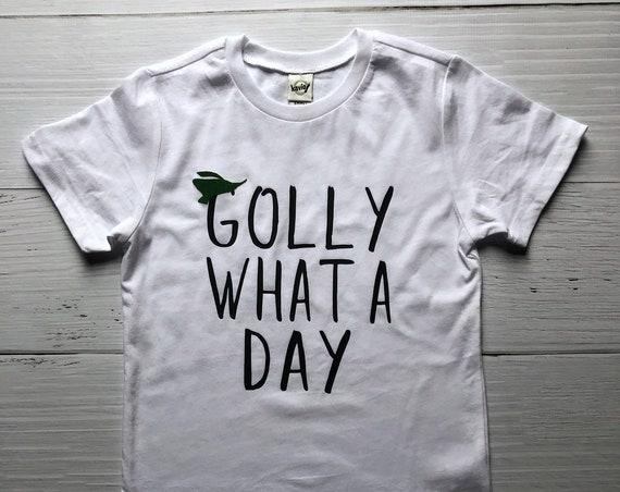Golly What A Day Kids Shirt / Robin Hood / Kids Disney Shirt / Oo De Lally / Boy Girl Disney Shirt / Gift Under 20 / Disney Song Lyric