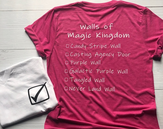 Walls of Magic Kingdom Shirt / Disney Vacation / Matching Shirt / Walls of Disney / Women Shirt / Men Shirt / Purple Wall / Disney World