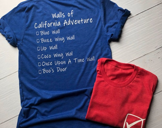 Walls of California Adventure Shirt / Disney Vacation / Matching Shirt / Walls of Disney / Women Shirt / Men Shirt / Blue Wall / Disneyland