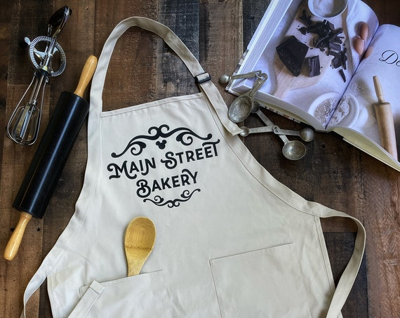 Main Street Bakery / Apron / Kitchen / Cook / Chef / Baker / Gift / Disneyland / Disney World / Snacks / Housewarming / Christmas / Smock