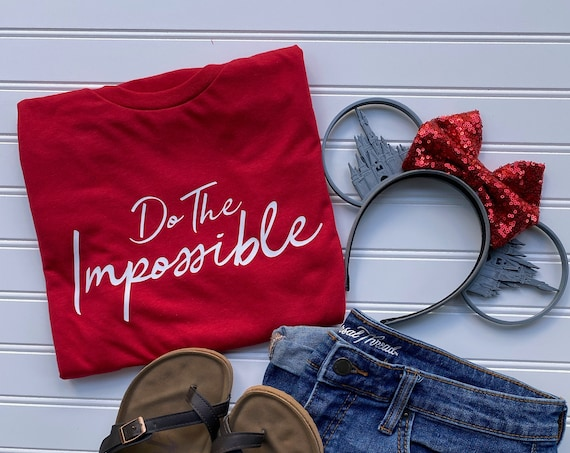 Do The Impossible - Walt Disney Quote - It's Kind of Fun - Disney Vacation - Inspiration - Gift Under 30 - Never Give Up - New Year