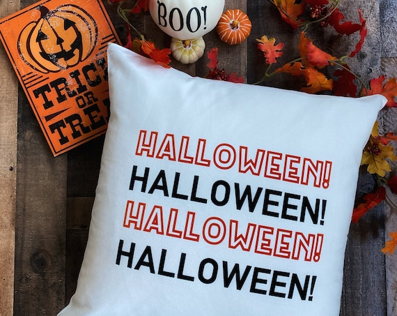 Halloween Throw Pillow Cover / Pillowcase / Sham / Gift / Nightmare Before Christmas /Jack Skellington / Home Decor / Living Room / Bedroom