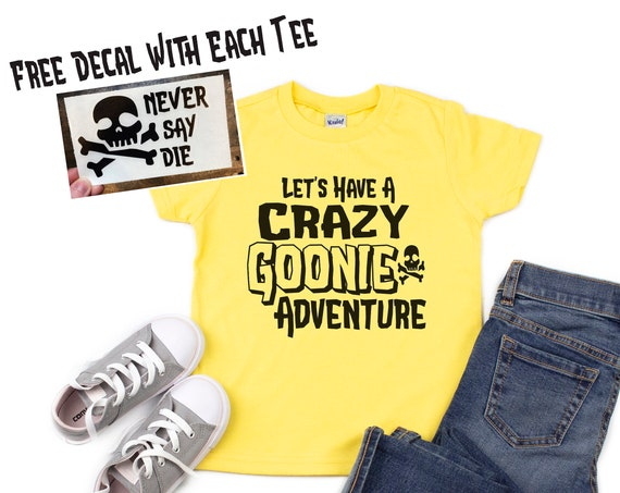 Crazy Goonie Adventure Youth Shirt / The Goonies / Movie / Astoria Oregon / 1980's / Chunk / Sloth / Mikey / Road Trip /Pirate Treasure Hunt