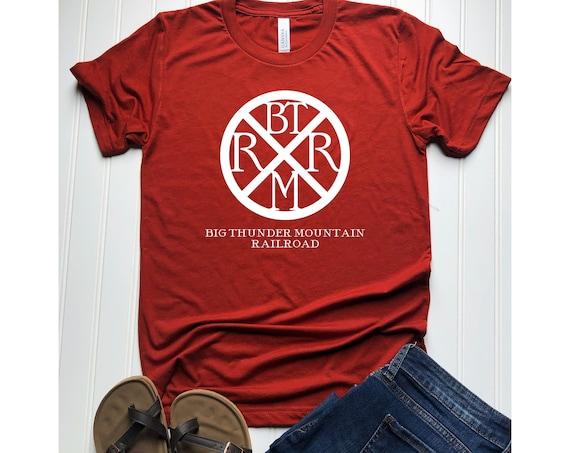 Big Thunder Mountain Railroad Brand Mark Shirt / Adult Disney Shirt / Disneyland / Disney World / Men Women Disney/Disney Gift/Gift Under 30