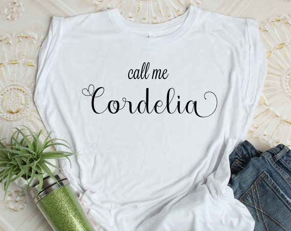 Call Me Cordelia / Ladies Flowy Muscle Tee / Anne of Green Gables / Literature / Feminine / Red Head / Tween / Teen / Book Quote / Carrots