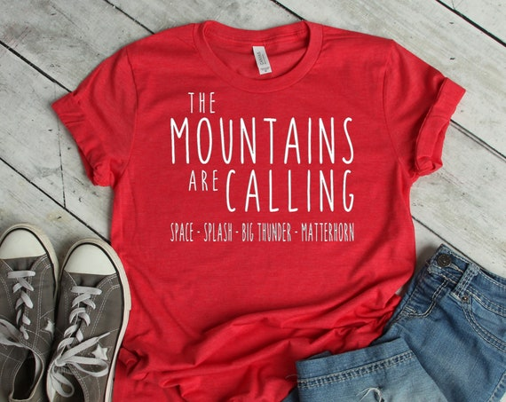 The Disneyland Mountains Are Calling Crew Neck Shirt / Space / Splash / Big Thunder / Matterhorn / Matching Shirt / Unisex / Disney/Vacation