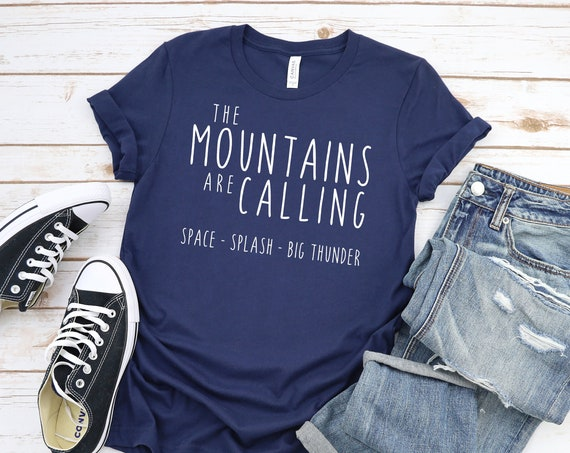 The Disney Mountains Are Calling Crew Neck Shirt / Splash / Space / Big Thunder / Disney Vacation / Matching Shirts / Gift Under 30 / Unisex