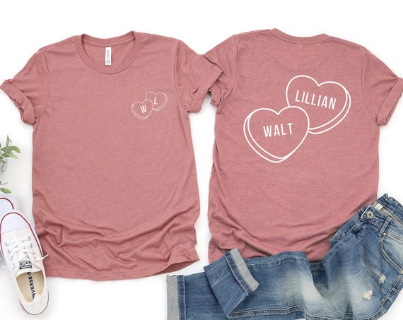 Walt & Lillian Candy Hearts / Disney Couple / Valentine's Day / Conversation Heart / Uncle Walt / Gift Under 30 / Prince Princess
