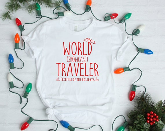 World Showcase Traveler Festival of the Holidays Shirt - Disney - Epcot - Vacation - Matching - Disney World - Christmas - Candlelight