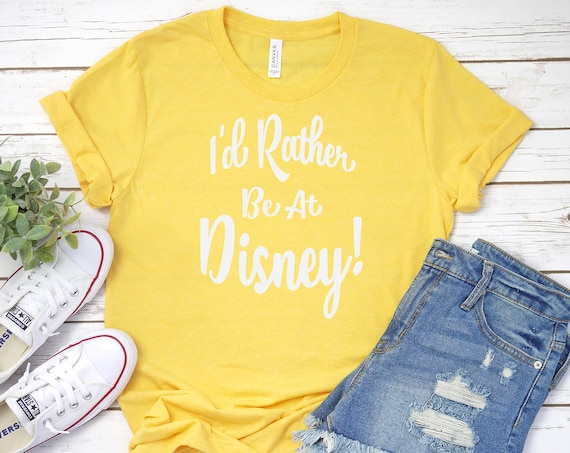 I'd Rather Be At Disney Crew Neck Shirt / Disneyland / Disney World / Family Vacation / Disney Blues / Cruise / Disney Gift / I love Disney